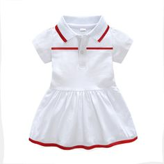 summer Fashion white newborn baby girls clothes cotton lapel Ruched Knee-Length kids dresses for girls toddler christmas dress Baby Girls, Toddler Girl, Cheap Dresses, Girls Dresses, Toddler Christmas Dress, Girl Outfits, Clothing, Summer, Cotton