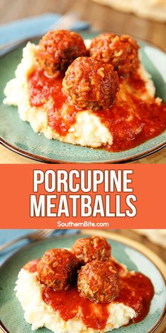 These Porcupine Meatballs get their funny name from the rice that& mixed into them. They& tender, juicy, and super flavorful! for dinner for two main dishes Porcupine Meatballs, Hamburger Meat Recipes, Meat Meals, Beef Dishes, Meat Dish, Ground Beef Recipes, The Best, Main Dishes, Dinner Recipes