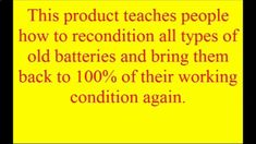DIY Battery Reconditioning - DIY Battery Reconditioning - Battery Reconditioning - EZ Battery Reconditioning Course Reviews | How to Bring a Car Battery Ba... - Save Money And NEVER Buy A New Battery Again Save Money And NEVER Buy A New Battery Again Save Money And NEVER Buy A New Battery Again