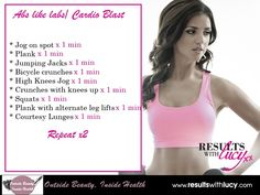 results with lucy towie workout
