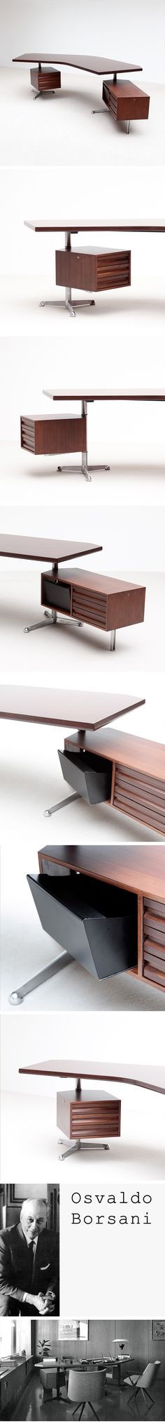 T96 Executive Desk by Osvaldo Borsani