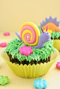 snail cupcakes 1