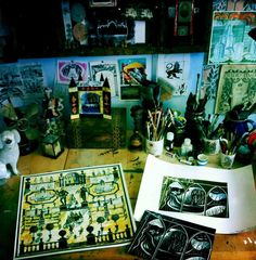 The studio of Ed Kluz via Pentreath & Hall