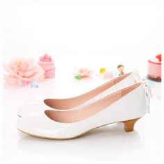 white low heeled shoes