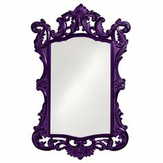 This oversized Monte Paraiso Mirror blends classical styling with baroque majesty. | Grandin Road Color Crush on Purple Thistle