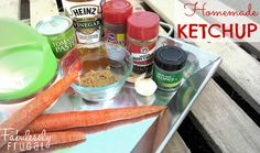 Make your own healthy ketchup! Easy, cheap, and good. Portion and freeze for up to 3 months.