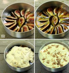 Bolo invertido de figo e mel - Honey and fig upside down cake