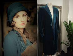 Green Velvet Jacket, Gothic Jackets, Gothic Coat, Steampunk Jacket, Opera Coat, Duster Jacket, Blue Coats, Vintage Velvet, Art Deco Fashion