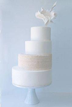 Sculptural Gumpaste Flower Cake - Wedding Cake