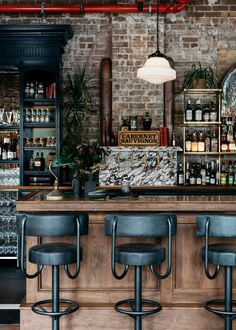 Stanton & Co is a restaurant interior fit out of an existing heritage shell. The venue holds 250 patrons and is a fine bar/bistro offering . Loft Interior, Restaurant Interior Design, Decor Interior Design, Industrial Restaurant Design, Small Restaurant Design, Deco Restaurant, Pub Design, Cafe Bar, Industrial Chic Decor