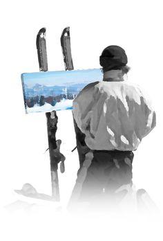 Jean-François Racine, artiste-peintre de Charlevoix Province Du Canada, Charlevoix, Skiing, Batman, Superhero, Movie Posters, Movies, Fictional Characters, Winter
