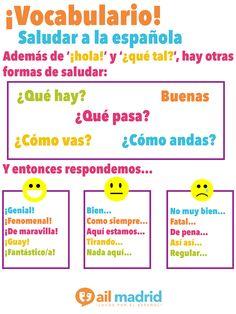 Spanish Language School in Madrid Spanish Basics, Spanish 1, Spanish Words, Spanish Lessons, Spanish Bread, Teach Yourself Spanish, Learn To Speak Spanish, Learn Spanish Online, Spanish Language School