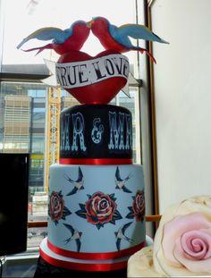 'True Love' Swallows wedding cake so cool Bird Cakes, Cupcake Cakes, Cupcakes, Our Wedding, Dream Wedding, Wedding Ideas, Summer Wedding, Wedding Stuff, Grunge Wedding