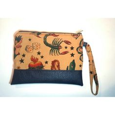 Sailor jerry zipper pouch #zipperpouch #handmadebySerena #diy Etsy shop : HandmadebySerena
