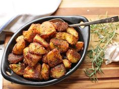 The Best Roast Potatoes Ever Recipe Serious Eats Potato Dishes, Vegetable Dishes, Vegetable Recipes, Food Dishes, Vegetarian Recipes, Side Dishes, Cooking Recipes, Healthy Recipes, Potato Recipes