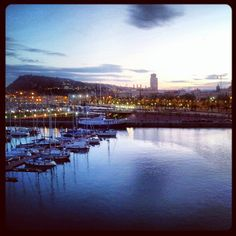 """Puerto de #Barcelona"" from Carlos Zardoya. Did you know that you can stroll along the water but even in the midle of the water in Barcelona Port? there are lot of attractions, shops, restaurants and bars there"