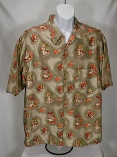 63e7efd0 Burnside Men's Hawaiian Shirt Islanders Ukulele Laui Hibiscus Flowers Size  XL #Burnside #Hawiian