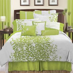 Fresh Brown and Lime Green Bedding