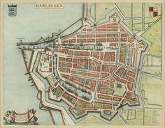 Joan Blaeu - Stadplattegrond van Harlingen.