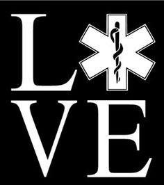 Car Vinyl Window Decal Transfer LOVE EMT / EMS First Responder