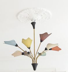 1950′s French ceiling lights by Mathieu Mategot.