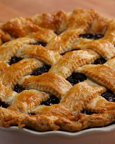 And here it is…Cherry Pie as made by Katy Perry! Don't you want to take a bite? | Katy Perry Made This Delicious Cherry Pie Before Dropping Her New Single, Bon Appétit
