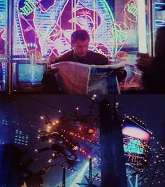 Blade Runner  Inspiring (glithching TVs in background)