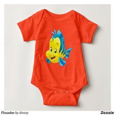 Princess - Flounder Shirt. Baby, bebé. Producto disponible en tienda Zazzle. Vestuario, moda. Product available in Zazzle store. Fashion wardrobe. Regalos, Gifts. #camiseta #tshirt