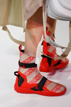 Spring collections were shot through with athletic influences; leave it to John Galliano at Maison Margiela to create the sporty yet ornately conceptual shoe that takes the cake.