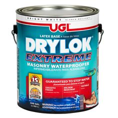 Drylok is a great concrete sealer that can be used to seal up cracks in your basement. It's a necessary step to take to avoid water leaks, before installing insulation. Waterproofing Basement Walls, Dry Basement, Basement Flooring, Basement Ideas, Basement Makeover, Basement Finishing, Sealing Basement Walls, Basement Repair, Leaking Basement