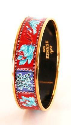 Hermes enamel bracelet.