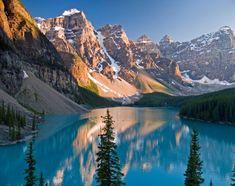 Moraine Lake is a glacially-fed lake in Banff National Park, 14 kilometres outside the Village of Lake Louise, Alberta, Canada. Description from pinterest.com. I searched for this on bing.com/images