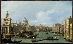 Canaletto (Venice 1697-Venice 1768)  Venice: The Grand Canal from the Salute towards the Carita.  c.1729-30 Oil on canvas | RCIN 400519