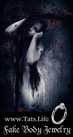 ___╋ I love Gothic ╋___ Dark Fantasy Art, Dark Gothic Art, Anime Fantasy, Dark Beauty, Gothic Beauty, Gothic Images, Beautiful Dark Art, Goth Art, Creepy Art