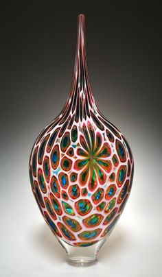 David Patchen Glass | ... /Topaz/Ruby Resistenza: David Patchen: Art Glass Vessel | Artful Home