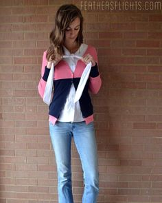 Feather's Flights {a creative, sewing blog}: Color Blocked Cardigan Tutorial For Stretch Yourself