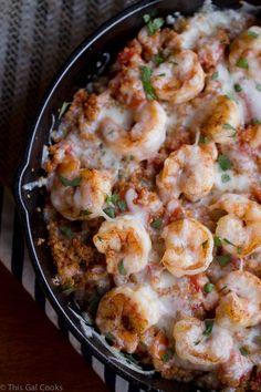 Cajun Shrimp and Quinoa Casserole