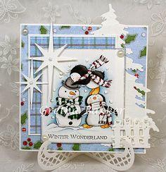 """Het kaartenhoekje van Gretha: Lili of the Valley """"Penguin Pals"""" Christmas Animals, Christmas Snowman, Winter Christmas, Christmas Cards, Christmas Ideas, Xmas, Snowman Images, Snowman Cards, Handmade Christmas Crafts"""