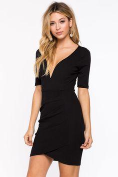 Lena Wrap Sheath Dress