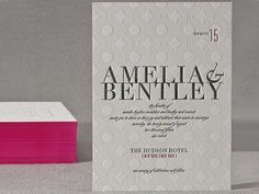 New York City Midtown Wedding Invitations Personalized Custom Stationery - Invite and Write