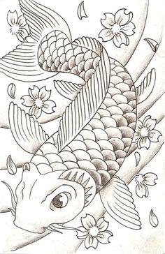 desenhos de carpa sombreadas