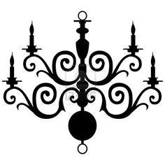 Elegant 2-d chandelier