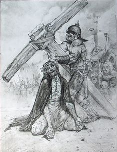 "passion of the christ in pencil  | ... in ""The Passion: Heavy Burden"" section of the book - Roman"