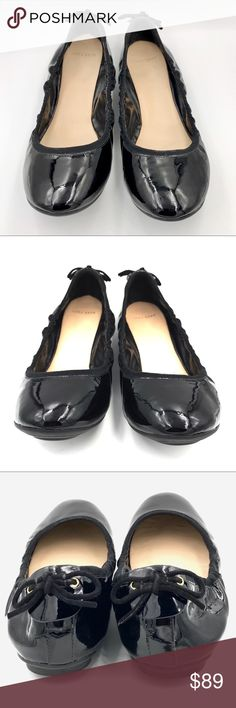 Cole Haan Ashlyn Black Patent Leather Ballet Flats Cole Haan Black Patent Leather Ballet Flats in the Ashlyn style. Excellent used condition. Cole Haan Shoes Flats & Loafers