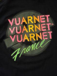 Miss my red white and blue 80's Vuarnet tshirts. Vintage Vuarnet France Black T Shirt Surf Skate Ski Unused with Tags