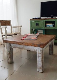 Ideas Para, Table, Furniture, Home Decor, Dreams, Wood Steel, Wood Furniture, Antique Wood