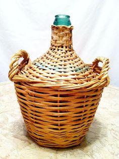 Vintage European Demijohn (wine jug)