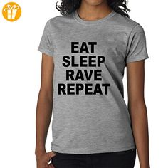 Eat Sleep Rave Repeat Black XXL Damen T-Shirt (*Partner-Link)