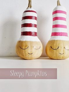Meeha Meeha: DIY Sleepy Pumpkins
