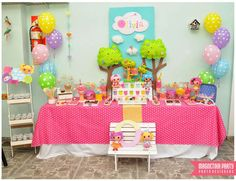 Dessert table at a LaLaloopsy birthday party!  See more party planning ideas at CatchMyParty.com!